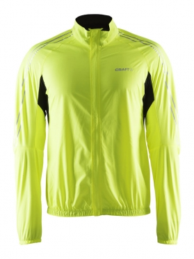 Craft velo wind jacket yellow fluo men