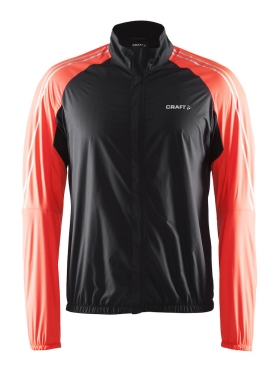 Craft velo wind cycling jacket black/orange men