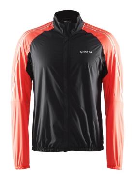 Craft velo wind cycling jacket black/orange men