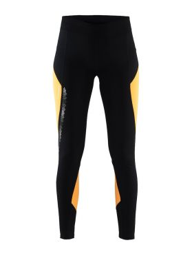 Craft Brilliant 2.0 thermal run tight black/yellow women