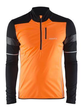 Craft Brilliant 2.0 thermal wind running top long sleeve oranje/black men
