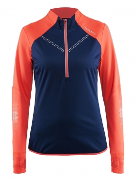 Craft Brilliant 2.0 thermal wind running top long sleeve blue/pink women