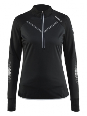 Craft Brilliant 2.0 thermal wind running top long sleeve black women
