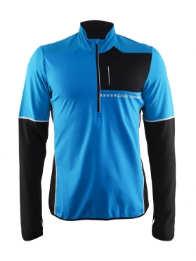 Craft Cover thermal wind running top long sleeve blue/black men