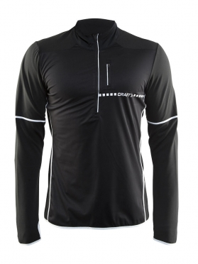 Craft Cover thermal wind running top long sleeve black men