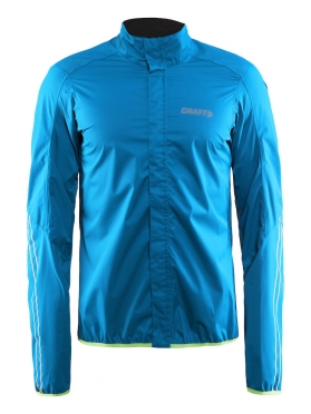 Craft Velo rain cycling jacket blue/pacific men