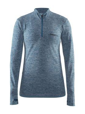 Craft Active Comfort Zip long sleeve baselayer blue/teal women