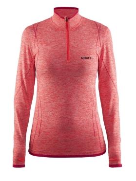 Craft Active Comfort Zip long sleeve baselayer red/crush women