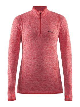 Craft Active Comfort Zip long sleeve baselayer red/poppy women