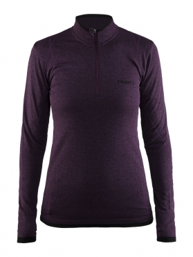 Craft Active Comfort Zip long sleeve baselayer purple women