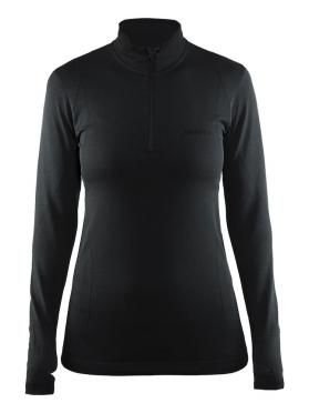 Craft Active Comfort Zip long sleeve baselayer black/solid women