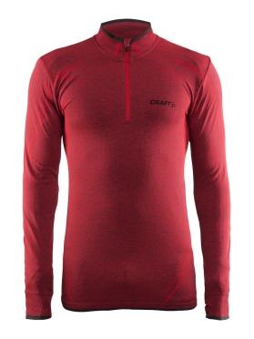 Craft Active Comfort Zip long sleeve baselayer red/drama men
