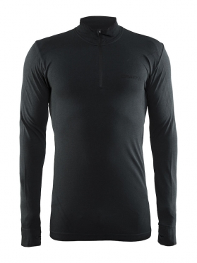 Craft Active Comfort Zip long sleeve baselayer black/solid men