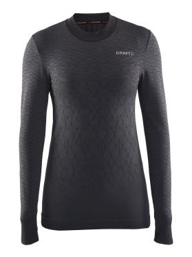 Craft Warm wool comfort long sleeve baselayer black women