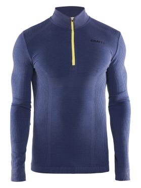 Craft Warm wool comfort zip long sleeve baselayer blue men