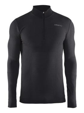 Craft Warm wool comfort zip long sleeve baselayer black men