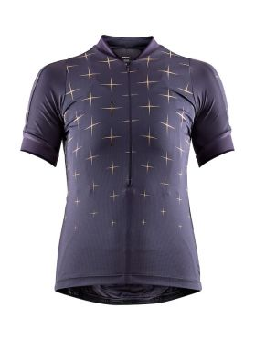 Craft Belle glow cycling jersey purple women