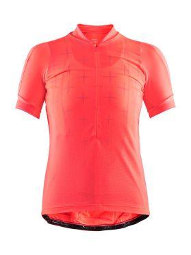 Craft Belle glow cycling jersey pink women