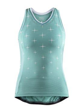 Craft Belle glow sleeveless cycling jersey green women