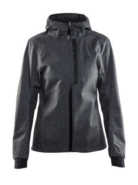 Craft ride rain jacket black women