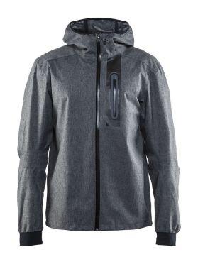 Craft ride rain jacket gray men
