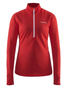 Craft Sweep halfzip ski mid layer red women