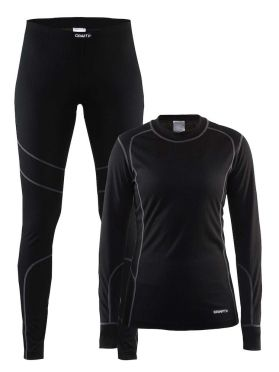 Craft Active 2-Pack baselayer set black/granite women