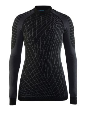 Craft Active intensity crewneck long sleeve baselayer black/granite women