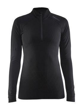 Craft Active intensity zip long sleeve baselayer black women