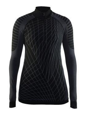 Craft Active intensity zip long sleeve baselayer black/granite women