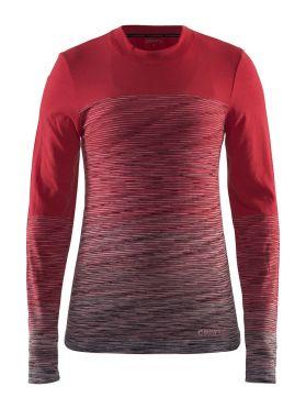 Craft wool comfort 2.0 CN long sleeve baselayer red women
