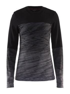 Craft wool comfort 2.0 CN long sleeve baselayer black women