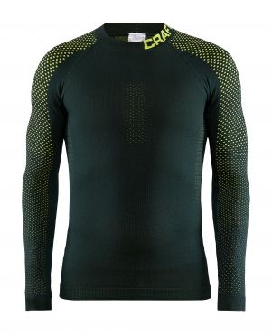 Craft warm intensity CN long sleeve baselayer green/yellow men