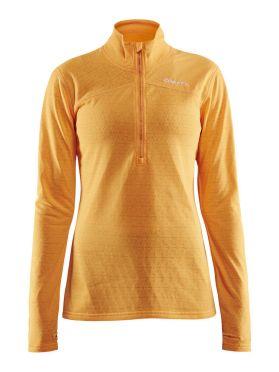 Craft Pin halfzip ski mid layer yellow women