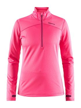 Craft Pin halfzip ski mid layer pink women