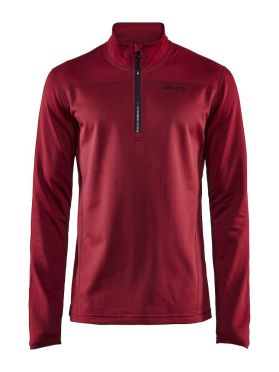 Craft Pin halfzip ski mid layer red men