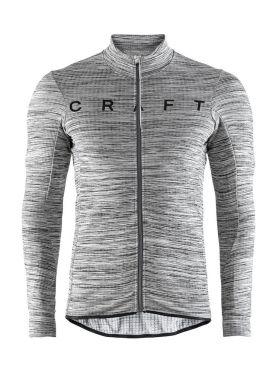 Craft Reel thermal long sleeve cycling jersey grey men