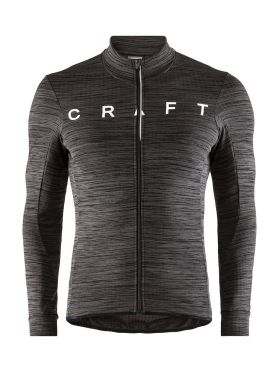 Craft Reel thermal long sleeve cycling jersey black men