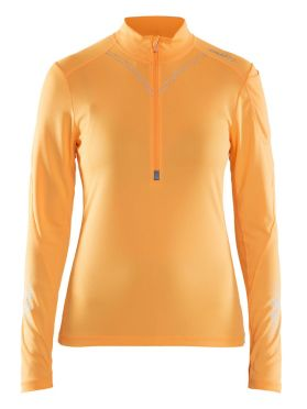 Craft Brilliant 2.0 halfzip ski mid layer orange women