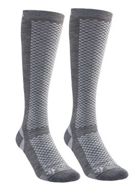 Craft warm high socks gray 2-pack