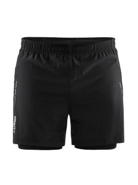 Craft Essential 2-in-1 running shorts black men
