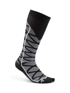 Craft Compression pattern run sock black unisex