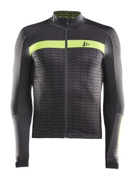 Craft Route cycling jersey long sleeve grey/yellow men