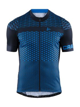 Craft Route cycling jersey short sleeve blue men