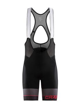 Craft Route bib shorts black/red men