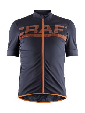 Craft Reel cycling jersey purple/orange men