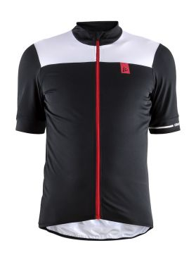 Craft Point cycling jersey black/white men