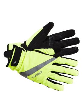 Craft Rain 2.0 bike gloves yellow/black unisex