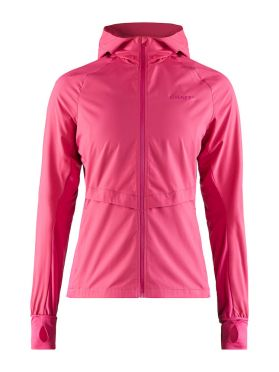 Craft Urban run hood running jacket pink women