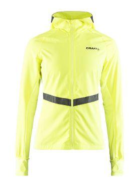 Craft Urban run hood running jacket yellow women